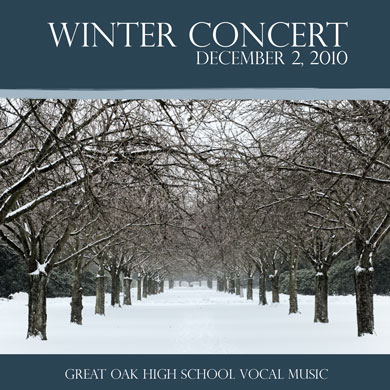 GOHS Choir Winter Concert CD 2010