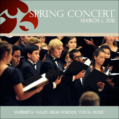 MVHS Choir Spring Concert CD 2011