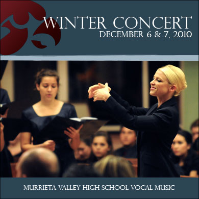MVHS Choir Winter Concert CD 2010