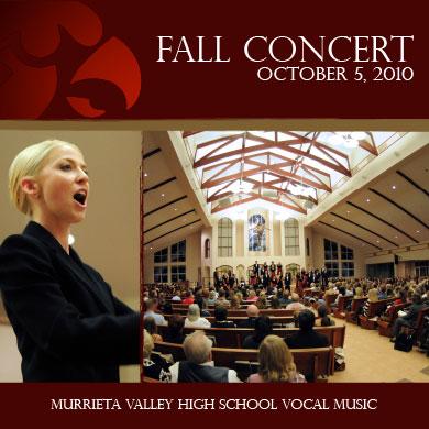 MVHS Choir Fall Concert CD 2010