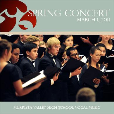 MVHS Choir Spring Concert CD 2011